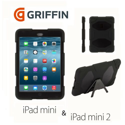 1 of 1 - Griffin Survivor Tough Rugged Case/Cover For iPad Mini - Black GB35918