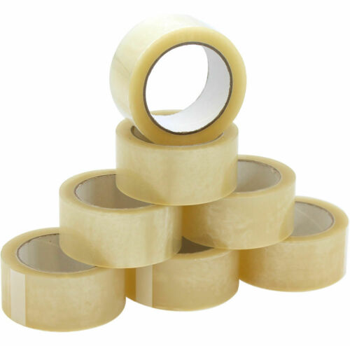 24  Strong Clear Parcel Packaging Packing Tape 48MM 50M Box Sealing Rolls