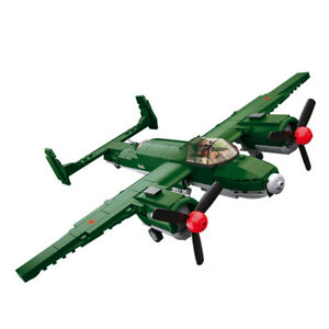 Sluban-WWII-Soviet-Allied-Bomber-Tupolev-Tu-2-BAT-M38-B0688-311pcs-brick-toy