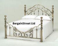 Luxury King Size 5ft Brass Bed Frame Bedstead