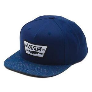 949268008 Details about Vans Off The Wall Full Patch Mens Wool Blend Blue Snapback  Hat Cap New NWT