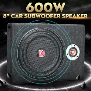 8/'/' 600W Car Under-Seat Active Subwoofer Power Amplifier Bass Slim Speaker
