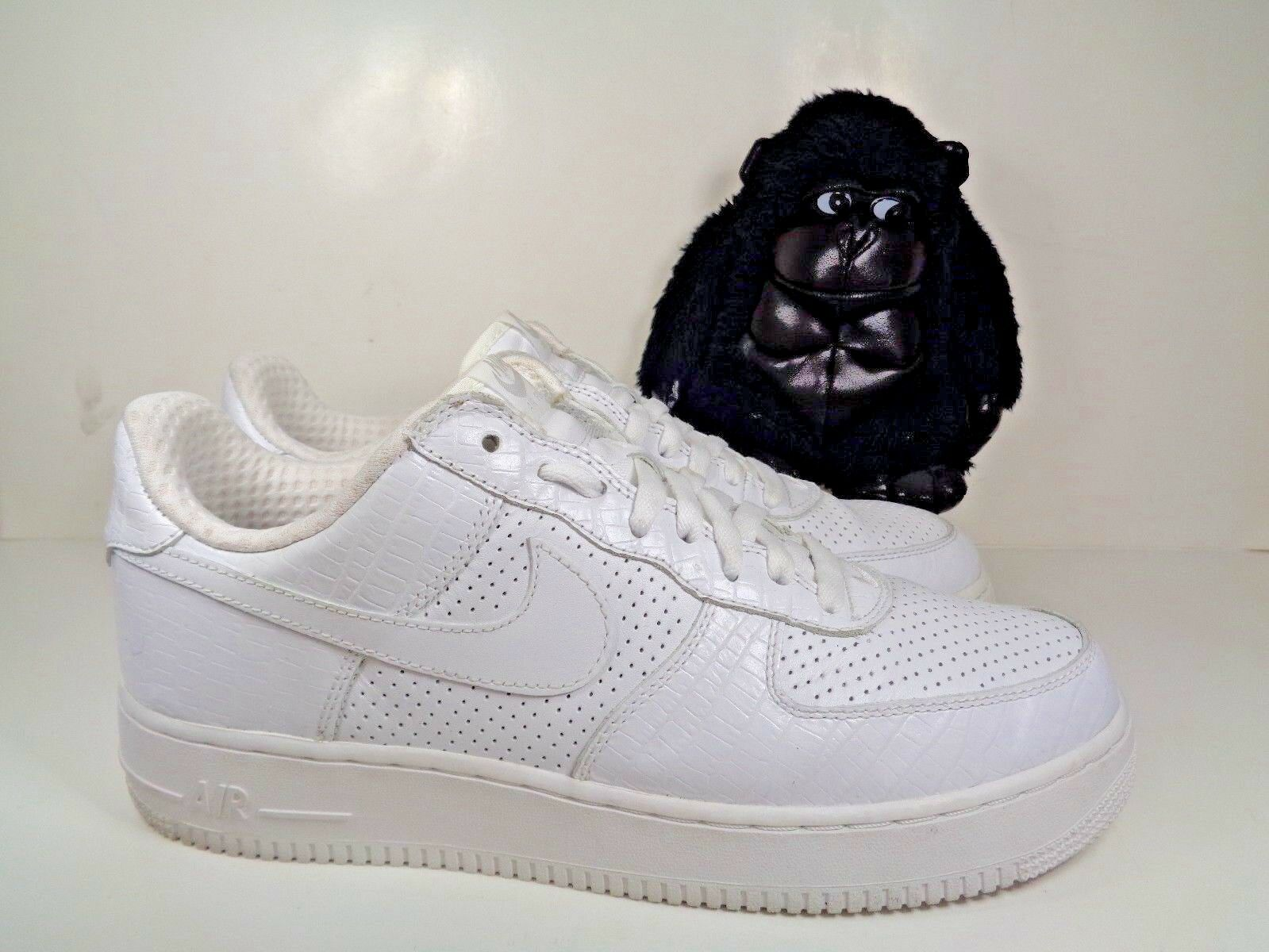 Mens Nike Air Force 1 Supreme Crocodile Croc shoes size 11 US 309096-112 2005
