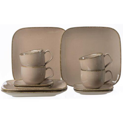 Ritzenhoff & Breker CASA Kaffeeservice 12-tlg Geschirrset Service Porzellan Grau