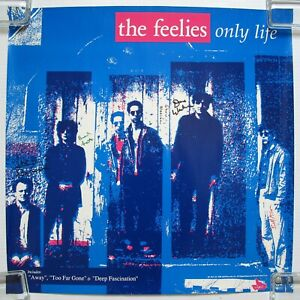 THE-FEELIES-Only-Life-1988-Band-SIGNED-A-amp-M-Records-US-AUTOGRAPHED-Promo-POSTER