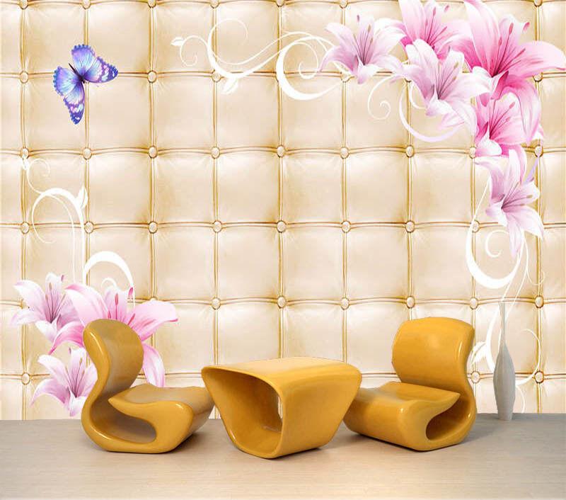 Dynamic Flower 3D Full Wall Mural Photo Wallpaper Printing Home Kids Decoration
