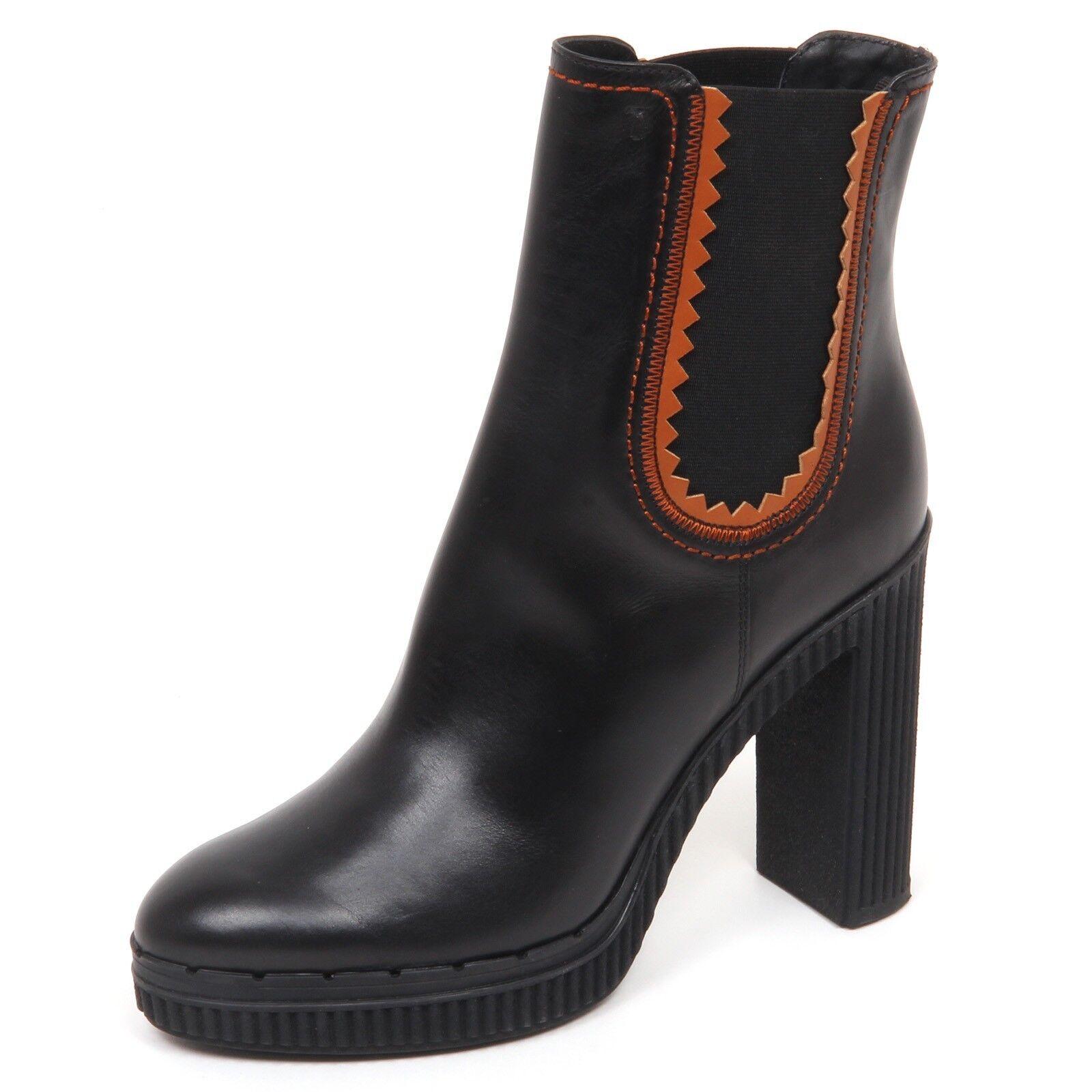 E2926 Tronchetto mujer negro Tod'S zapatos Bota Zapato Mujer