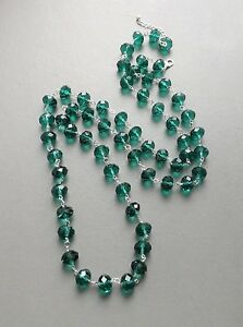 Chunky-big-green-glass-crystal-bead-long-necklace-faceted-statement-jewellery