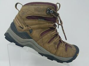 c3971089dcb Details about Keen Gypsum Mid Womens Hiking Boot Size 8 Brown Purple  Waterproof Shoe