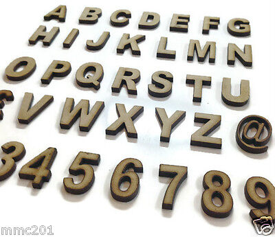 Wooden MDF Georgian Letters Numbers 10cm sizes 2cm