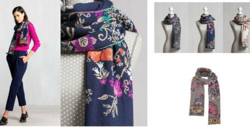 Merino IVKO Schal Wolle Scarf wool Blumen Muster anthracite floral 72555