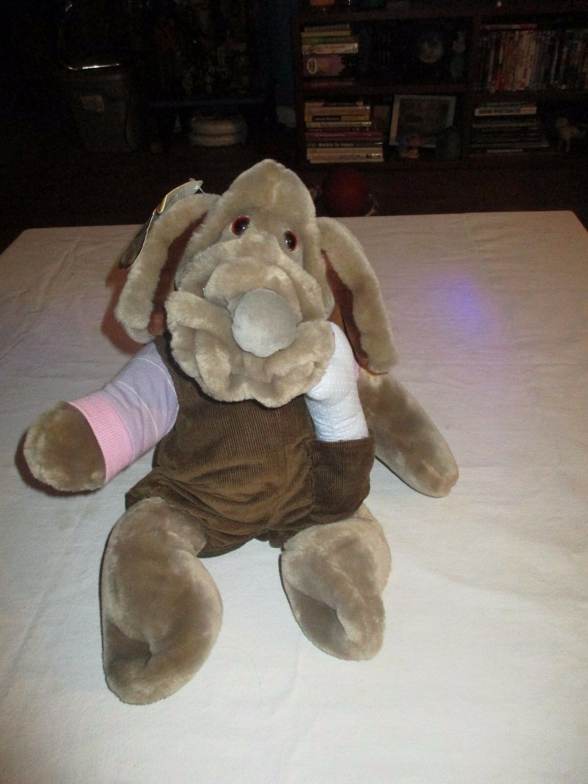 Ganz Plush Wrinkles Hand Puppet Dog Grey Full Body 18  original tag