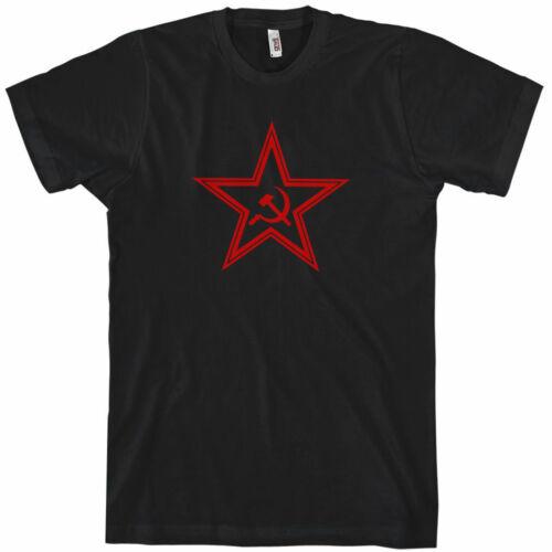 Hammer Sickle Soviet Russia XS-4XL USSR STAR T-shirt