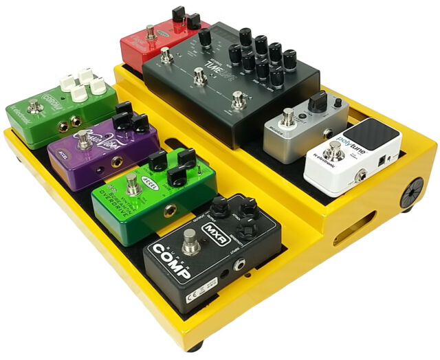 accel xta15 guitar effects pedal board and 2 extension plates with case for sale online ebay. Black Bedroom Furniture Sets. Home Design Ideas