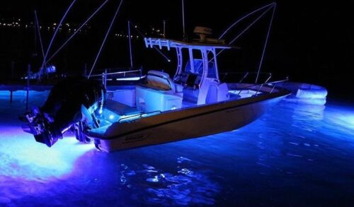 6K Lumen LED Underwater Marine Boat Lights  BLUE