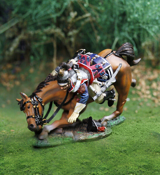 The Collectors ShowCase Napoleonica Francese cs00811 Cuirassier Falling MIB