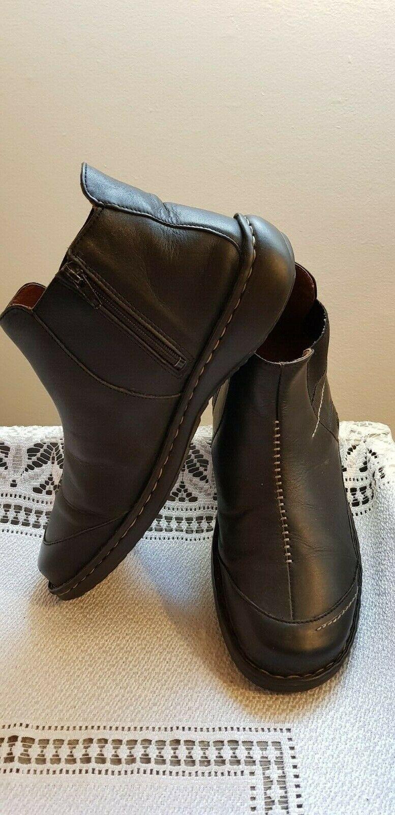 Josef Seibel, negro botas de cuero suave para mujer-Talla