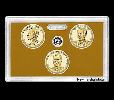 2016 Presidential $1 Coin Proof Set US Mint 3 Golden Dollars NO COA and NO Box