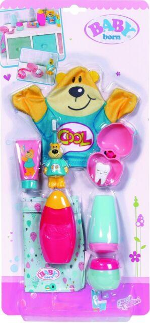 Zapf Creation Baby Born Bain Temps-WASH & GO Set Accessoire pour poupées