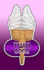 Ice Cream Van Autocollant Double Cône #3-afficher Le Titre D'origine Isdizjz9-07223437-591202534