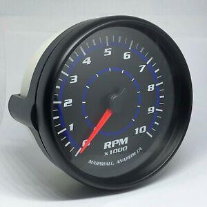 "Marshall C2 Blueline 5"" In Dash Tachometer, 0-10,000 RPM, Black Bezel, 2153BLK"
