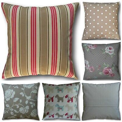 Vintage//Shabby Chic Clarke and Clarke Scotties Grey Pink  fabric Cushion Cover