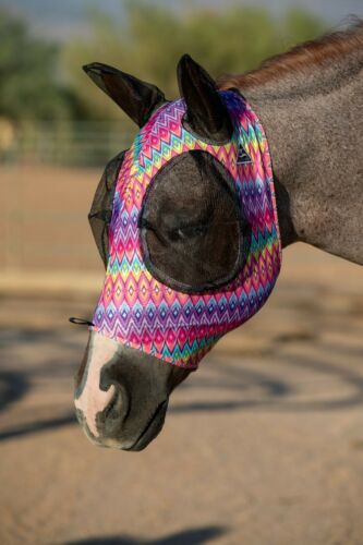 Professional/'s Choice Comfort Fit Horse /& Arab Sizes Lycra Fly Mask with Ears