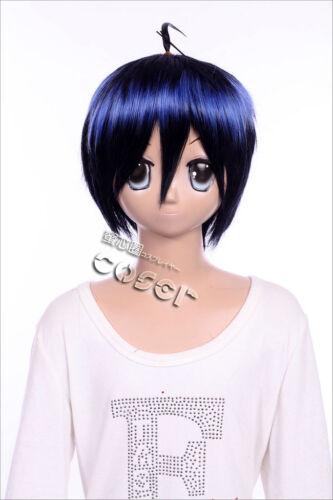 Details about  /W-81 Bakuman Mashiro Cosplay Anime Wig Black Blue Mix