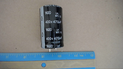 YAGEO 400V 330UF 85C Snap In Capacitor New Quantity-4