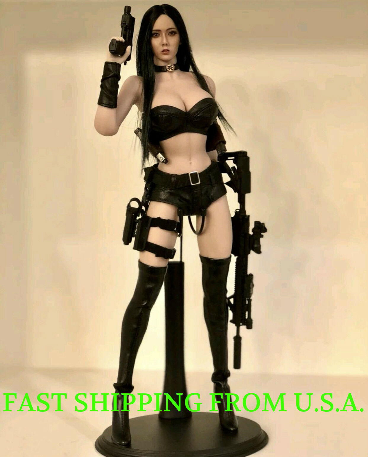 Phicen 1 6 figura femenina transparente largo cabello negro belleza asiática juego de muñeca ❶ USA ❶