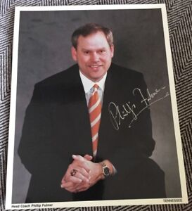 PHILLIP FULMER SIGNED Tennessee Volunteers 8X10 Photo ...