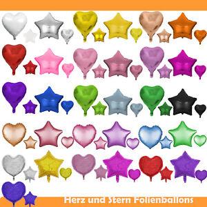 Folienballon-Herz-Stern-45cm-Helium-Luftballon-Herzballon-Star-Folienballons