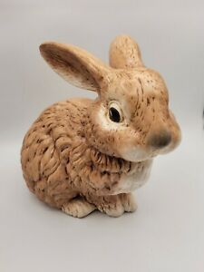 Ceramic Large Bunny Rabbit Glenview Mold Hand Painted Brown Easter Hobbyist
