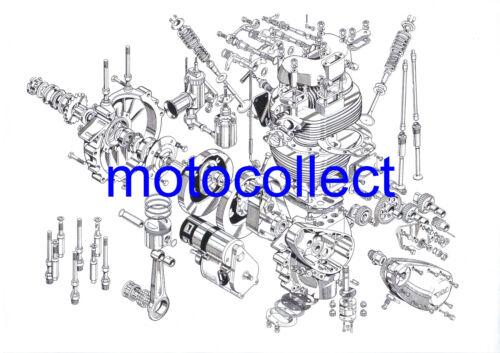 Cutaway Drawing..A3 Print..FREE POSTAGE WORLWIDE TRIUMPH T120 Unit 650 Engine