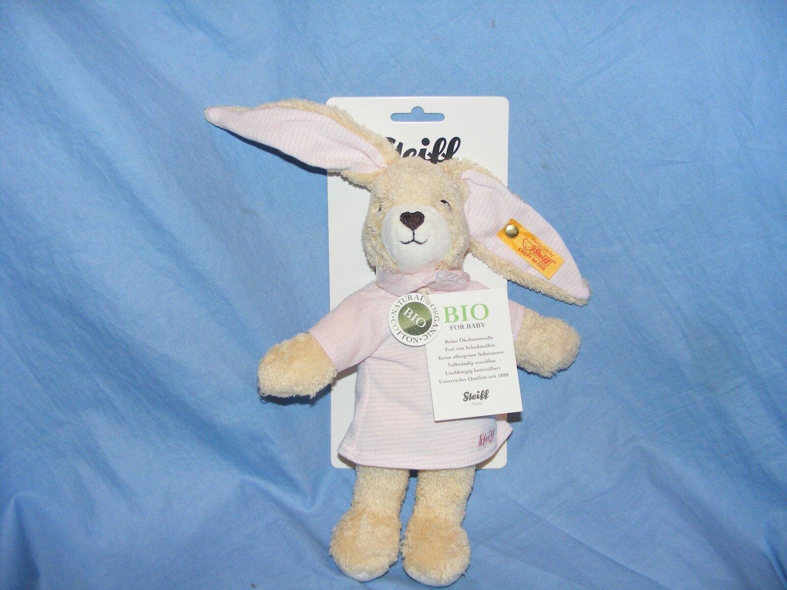 Steiff NEU Baby Hoppel das Kaninchen Kaninchen Kaninchen Rosa Schönes Geschenk Taufe Geburtstag 301e74