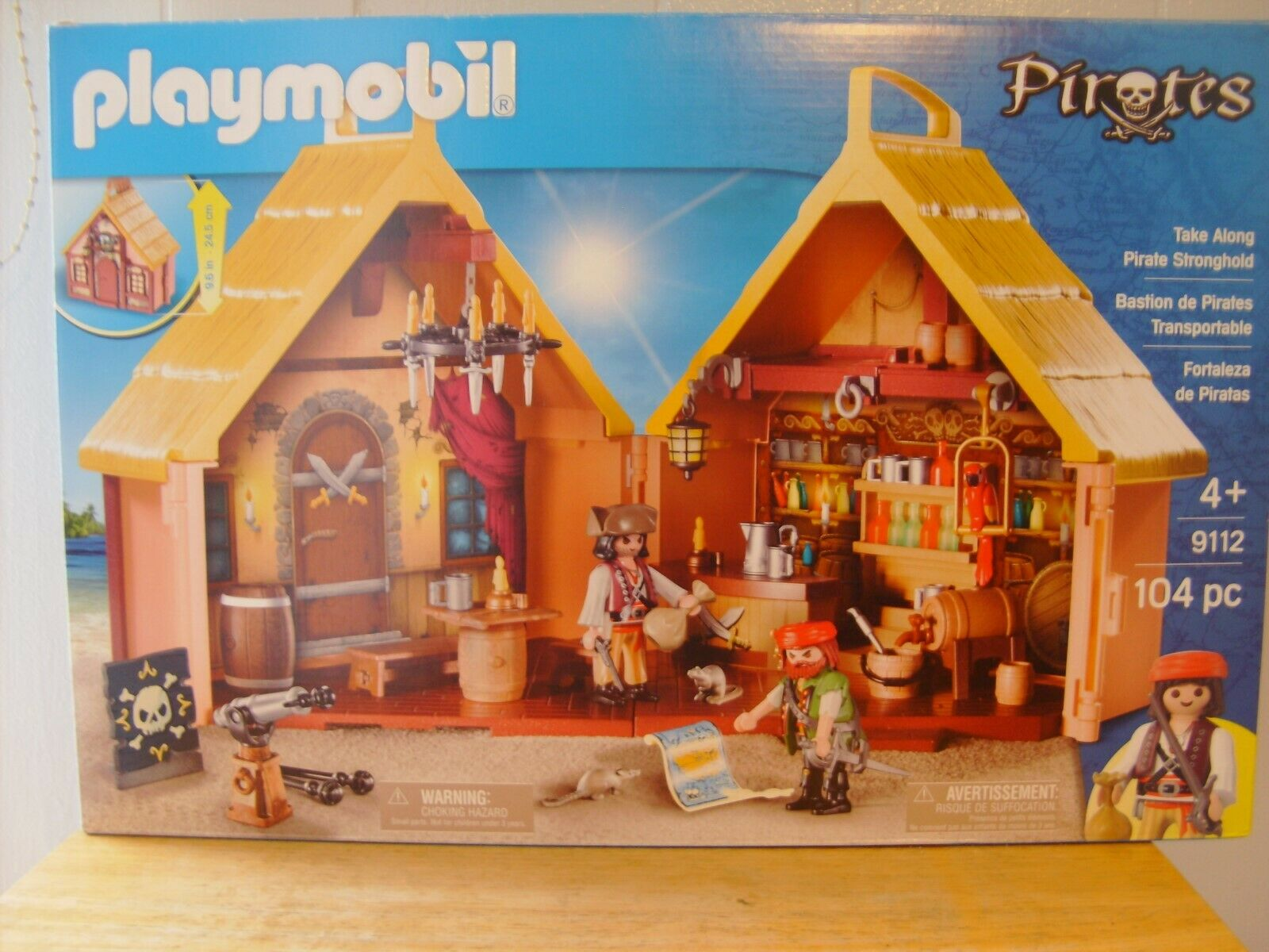 Playmobil Playmobil Playmobil PIRATES Take Along Pirate Stonghold 104 Pieces Ages 4+  NEW  aa36e3