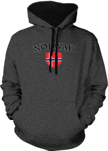 Norway Flag Crest Norwegian Norge National Country Pride 2-tone Hoodie Pullover