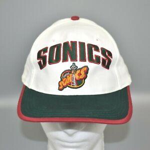 Seattle-Sonics-NBA-Vintage-90-039-s-Twins-Enterprise-Adjustable-Snapback-Cap-Hat-NWT