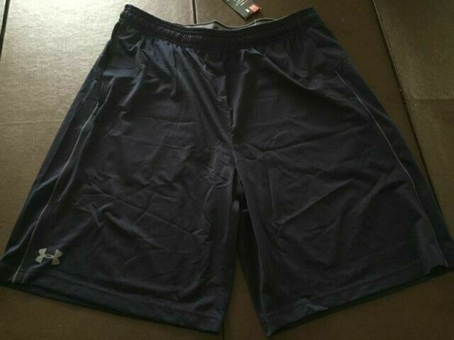 NWT Men's Under Armour Heatgear Shorts Size L Large Color Black And White