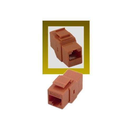 RJ45 Cat5e Female to Female Coupler UTP Ethernet Keystone Jack Orange