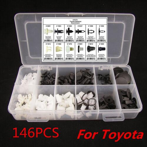 146 PCS FENDER DOOR HOOD BUMPER TRIM CLIP BODY RETAINER ASSORTMENT FOR TOYOTA