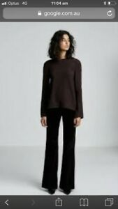 Sold-Out-SCANLAN-THEODORE-Brown-Stretched-Reptile-Top-Sz-L-BNWT-RRP-400
