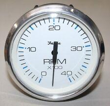 Faria White Chesapeake Diesel Tachometer 0-4000 RPM - TD9707A