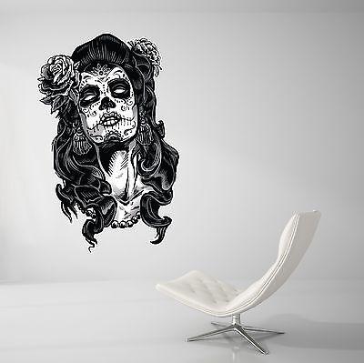Day of the Dead Wall Decal Livinig Room Art Decor Skull Wall Paper Sticker J151