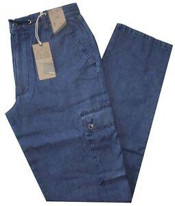 Pantalone-uomo-taglia-M-L-XL-XXL-XXXL-tasconi-Jeans-leggero-SEA-BARRIER-Darcy