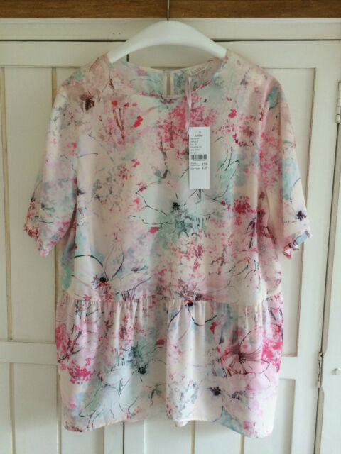 KALIKO Multi Floral Top Blouse Boho Tunic, UK 14, BNWT £59