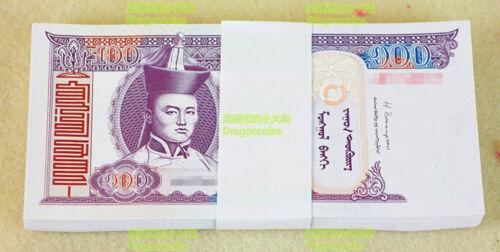 Mongolia 100 Togrog Banknote papermoney Full Bundle 100PCS UNC