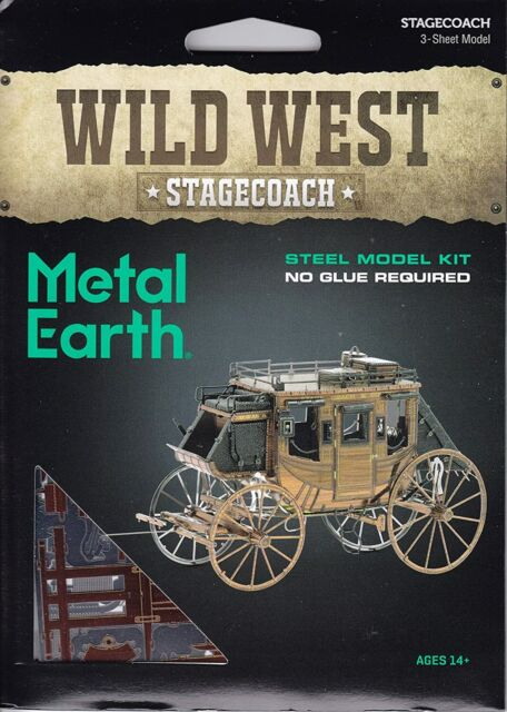 Metal Earth Wild West Stagecoach Model Kit MMS189 NEW IN STOCK