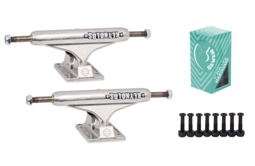 """Independent 139 Stage 11 Hollow Reynolds Block Silver Trucks Cal 7 1/"""" Hardware"""