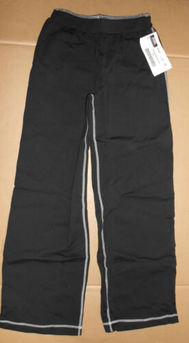 NWT  Dancer Jazz Coverup Pants Black w// white stitching Cotton Spandex COMFY